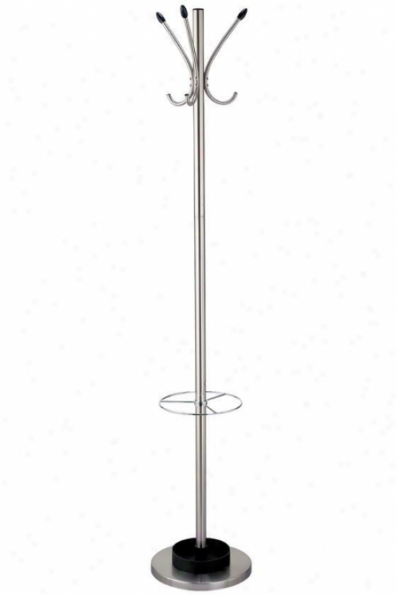 """stewart Umbrella Stand And Layer Rack - 68""""hx12""""d, Silver"""