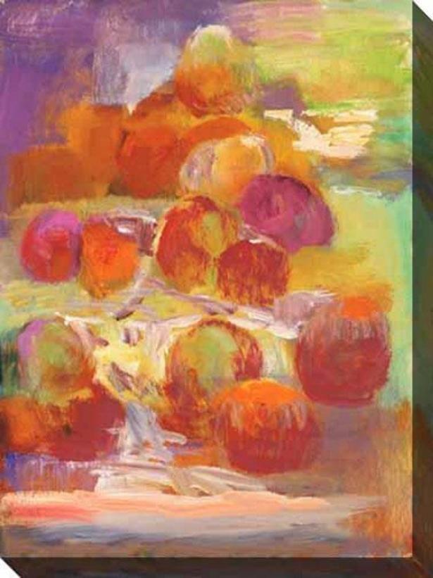 Still Life Celebration Ii Canvas Wall Art - Ii, Red