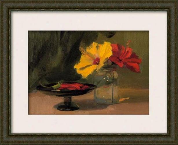 Still Life With Flowers Iii Framed Wall Art - Iii, Matted Burlwood