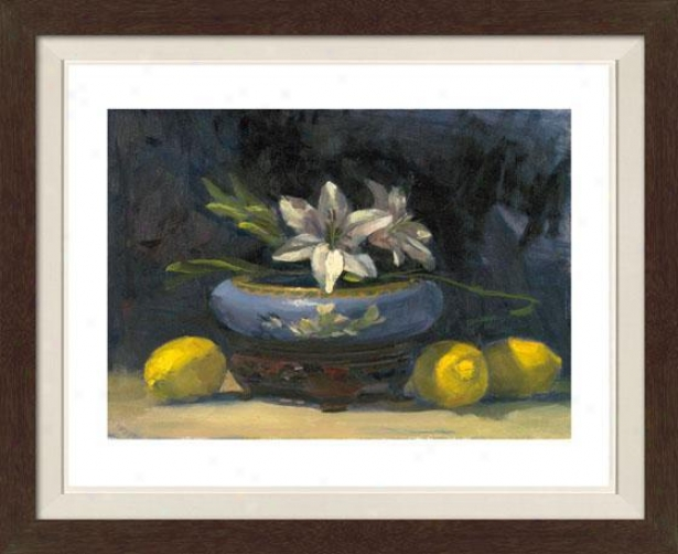 Still Life With Flowers Iv Framed Wall Art - Iv, Matted Burlwood