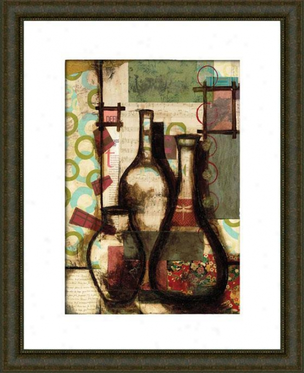 Still Michelangelo Ii Framed Wall Art - Ii, Matted Burlwood