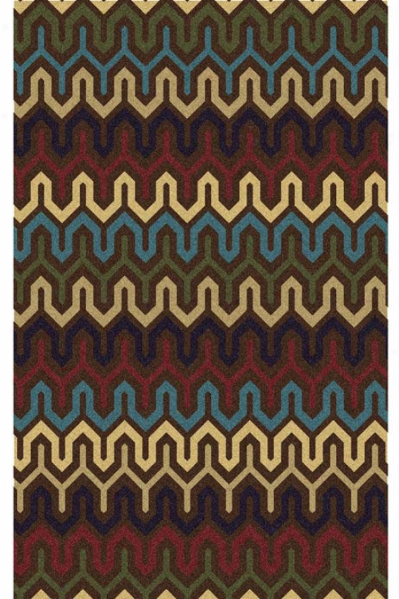 """stitches Area Rug - 7'6""""x9'6"""", Brown"""