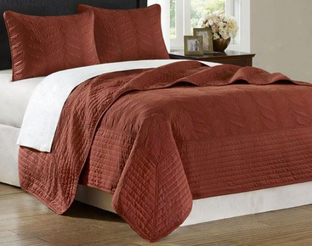 Stonebridge Ii Coverlet Set - King 3pc Set, Brick Red