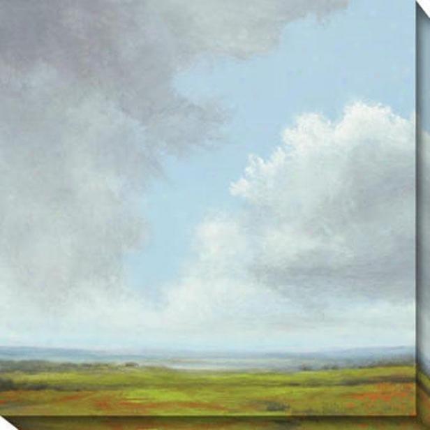 Storm Series Iii Canvas Wall Art - Iii, Green