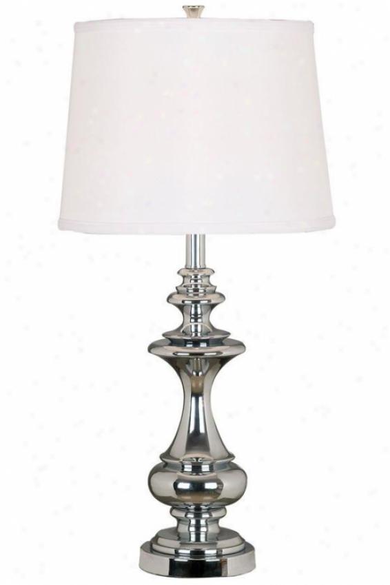 """stratton Table Lamp - 29""""hx14""""d, Chrome Finish"""