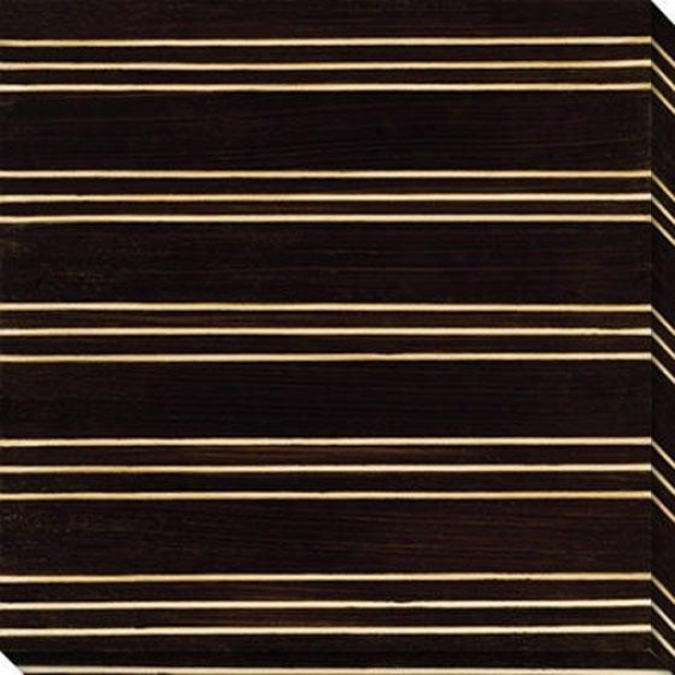 Stripe Vison Iv Canvas Wall Art - Iii, Black