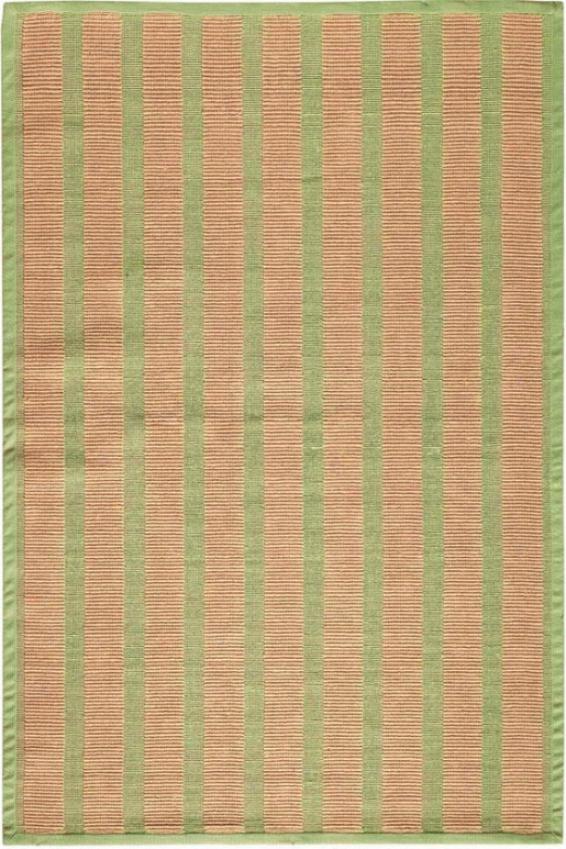 Striped Jute Rug - 4'x6', Sage