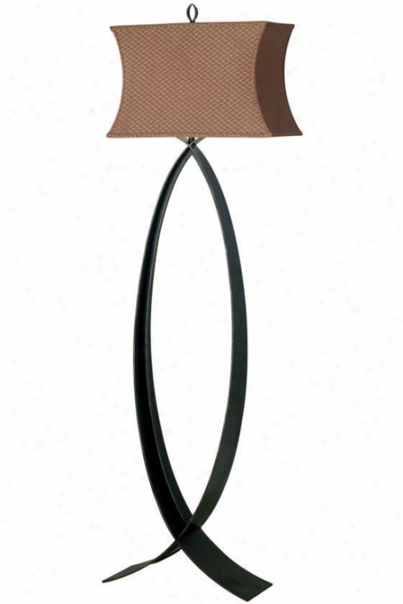 Structure Pisces Floor Lamp-  Cinnamon Shade, Steel Gray