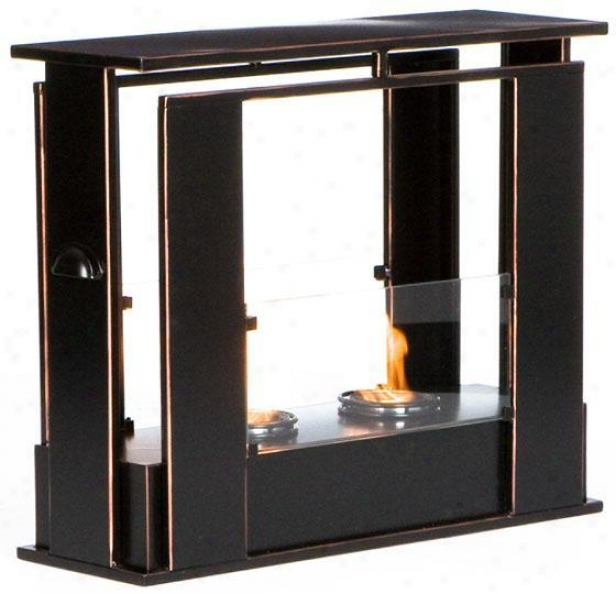 Studio Portable Fireplace - Gel, Black