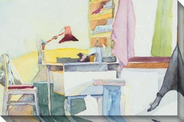 """study Room Canvas Wzll Art - 48""""hx32""""w ,Multi"""