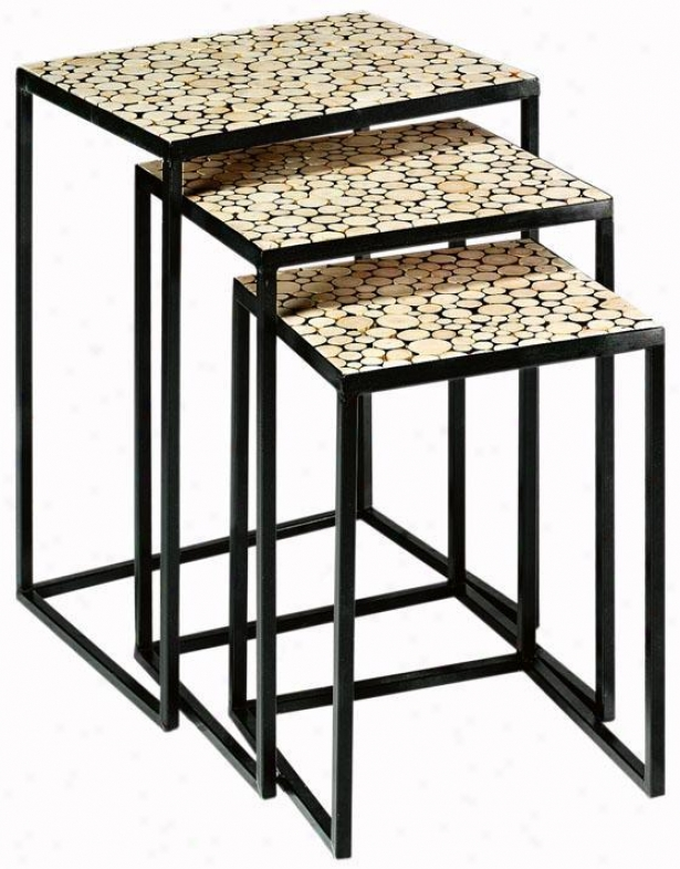 Styrax Nestrd Accent Tables - Nested, Ivory
