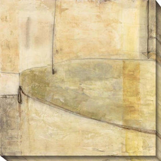 Subterranean Continuity I Canvas Wall Art - I, White