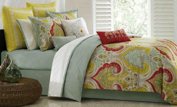 Sula Ii Comforter Set - Queen 9pc Set, Green