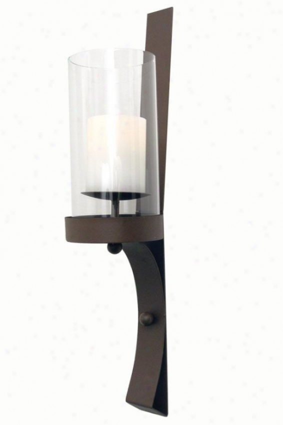 Sullivab Flameless Wall Sconce - 29h X 8w S 6.25, Brown