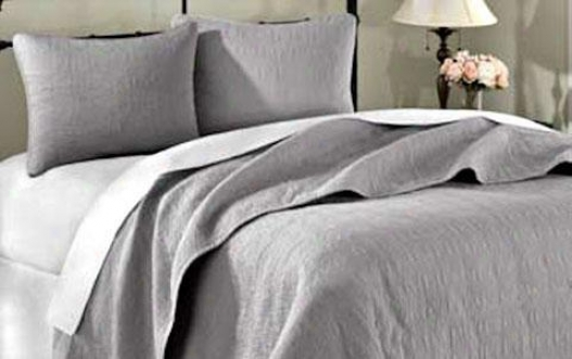 Summerfield Ii Coverlet Set - King 3pc Set, Gray