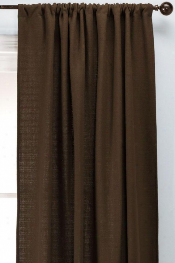 """summerhouse Chocolate Rod Pocket Drapery - Rod Pckt Drapry, 108""""hx54""""w"""