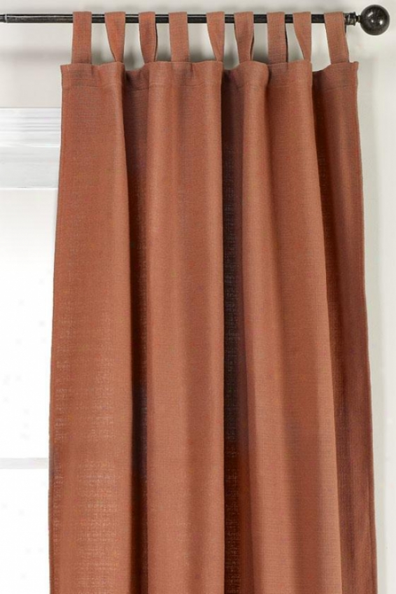 """summerhouse Cognac Tab Top Drapery - Tab Top Drapery, 96""""hx54""""w"""