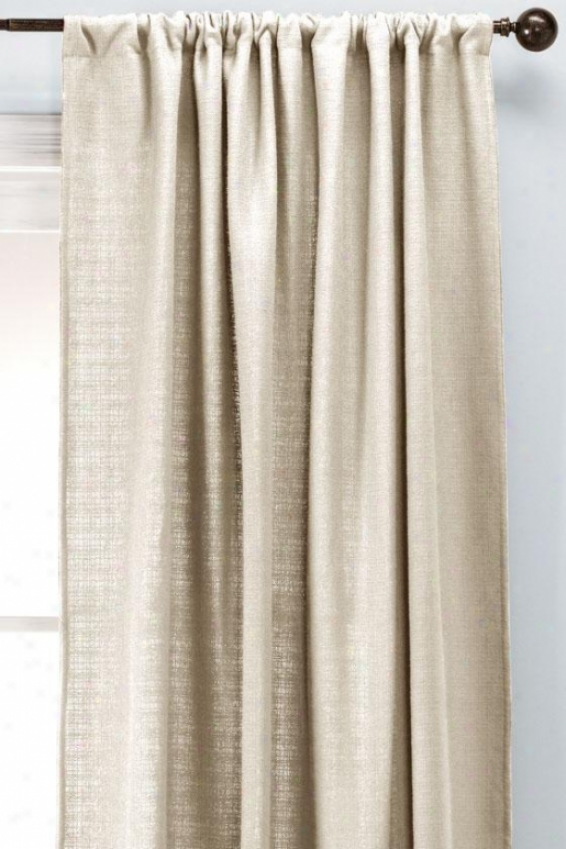 """summerhouse Natural Wash Lined Rod Pocket Drapery - Lnd Rd Pckt Drp, 108""""hx54""""w"""