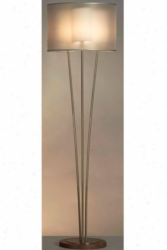"""""""summit Floor Lamp - 62h X 18""""""""w, Soft and clear  Nickel"""""""