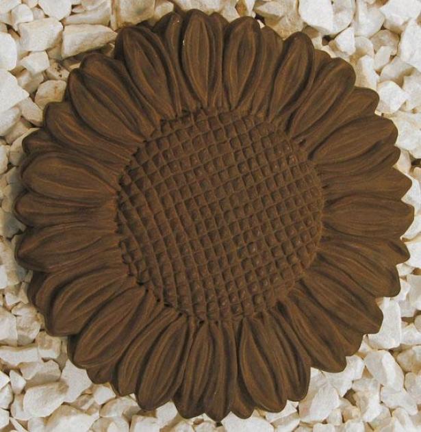 Sunflower Stepstone - 1hx11.5wx11.5d, Brown Wood