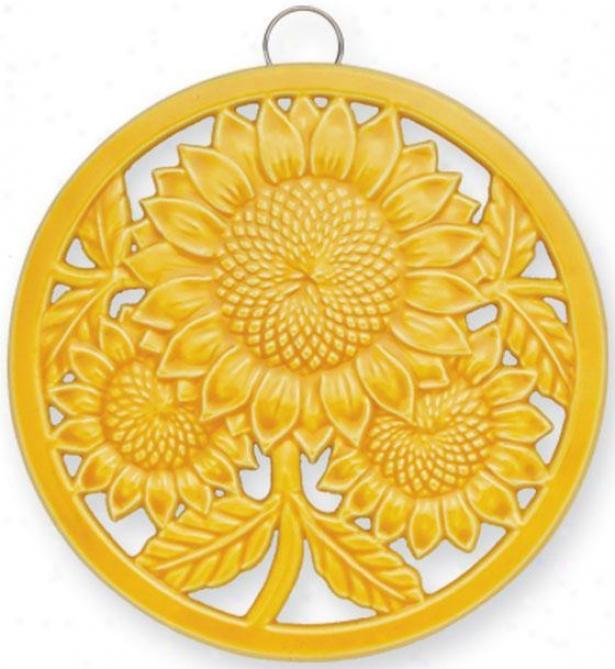 """sunflower Trivet - 8.75""""d, Butterscotch"""
