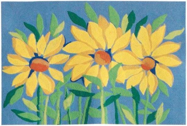 """""""sunflowers Mat - 20""""""""x30"""""""", Yeliow"""""""