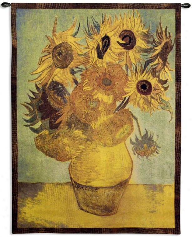 """sunflowers Taoestry - 53""""hx38""""w, 8Mlti"""