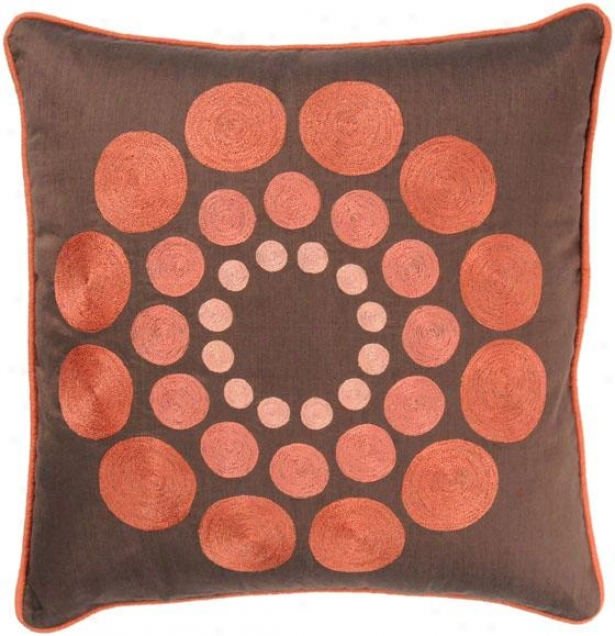 Sunny Pillow - 18hx18w, Brown