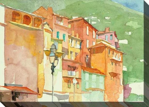 """sunny Step Canvas Wall Art - 48""""hx35""""w, Green"""