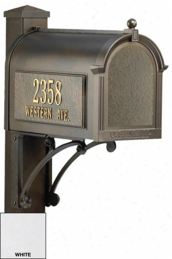 """""""superior Personalized Mailbox Package - 56""""""""x01""""""""wx24""""""""d, White"""""""