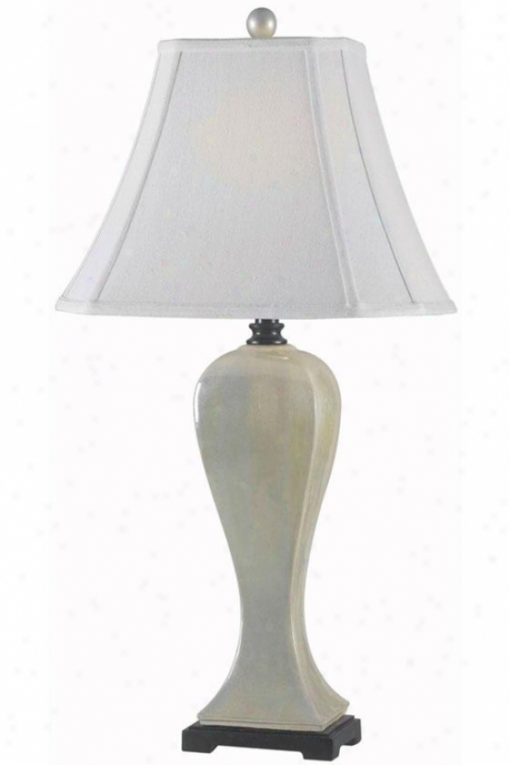 """superior Table Lamp - 32""""hx16""""d, Pearlized Happy"""