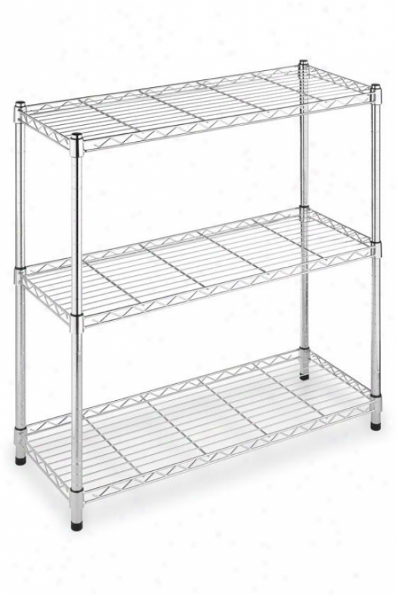 Supreme 3-tier Shelving - Regular, Silver Chdome