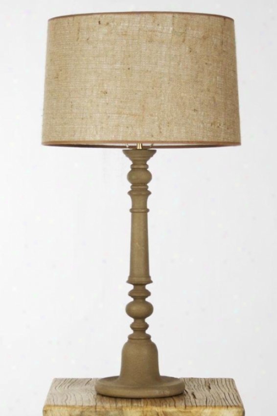 Sutherland Table Lamp - 19hx28wx28d, Affectionate Wood