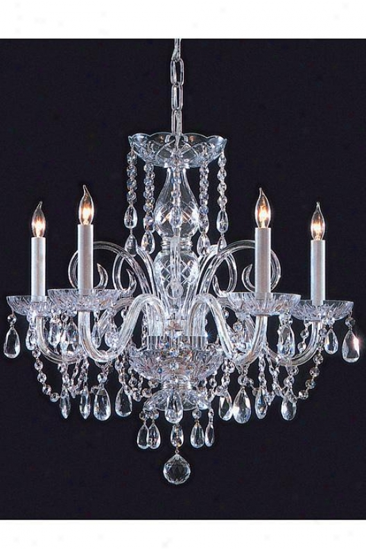 """swarovski Spectra Crystal Chandelier - 20""""hx22""""w, Knife Gray Chrome"""