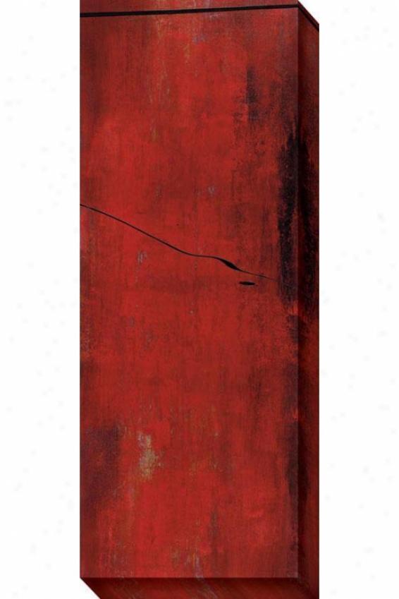 Swayed Ii Canvas Walk Art - Ii, Red