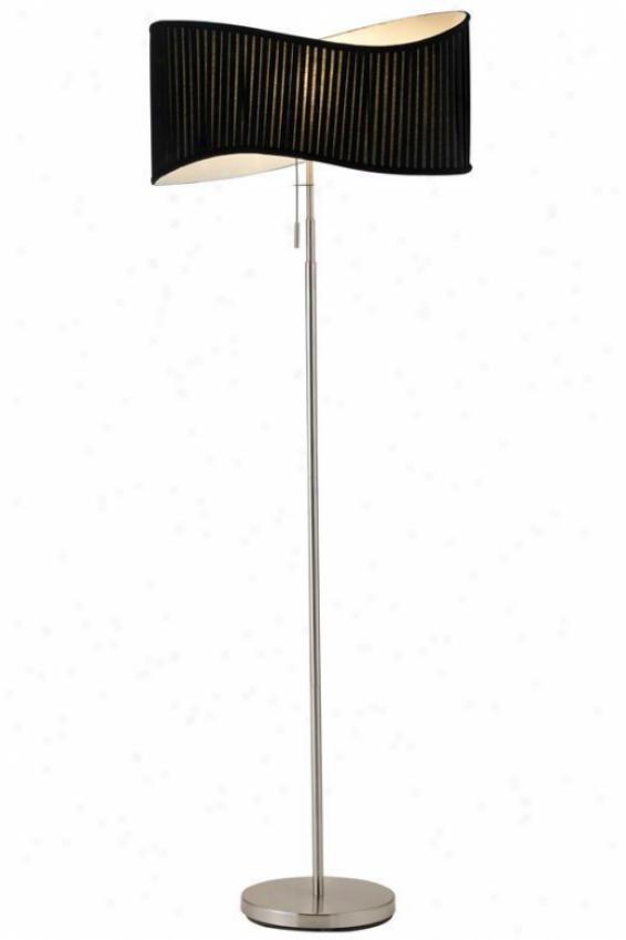 """""""symphony Floor Lamp - 63""""""""hx11""""""""round, Satin Steel"""""""