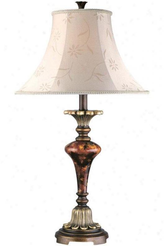 """table Lamp - 29.5""""hx16.5""""w, Gold"""