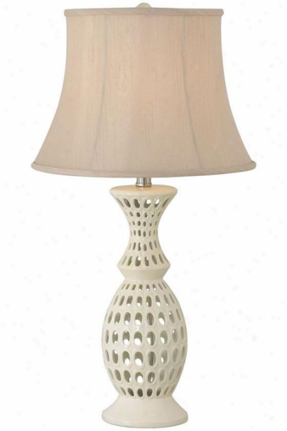 """taffy Table Lamp - 29""""h, White"""