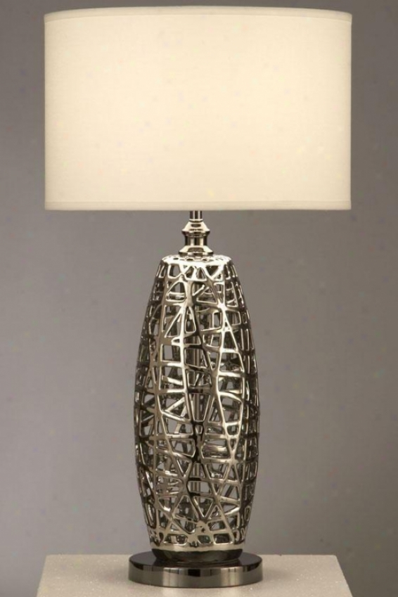"""tangled Heart Table Lamp - 30 X 16""""w, Silver Chroke"""