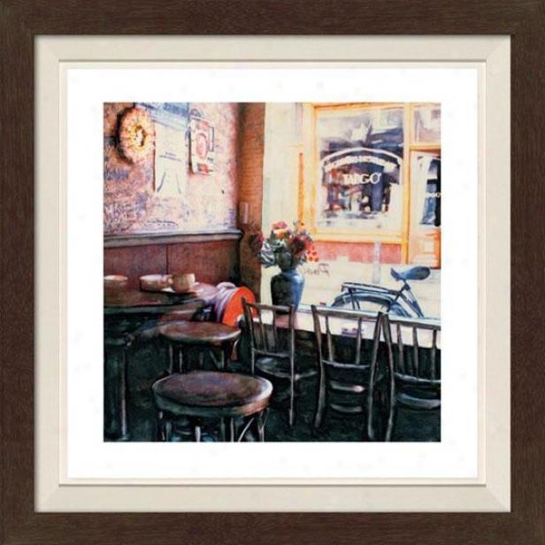 """""""tango Framed Wall Art - 30""""""""hx30""""""""w, Fltd Espresso"""""""
