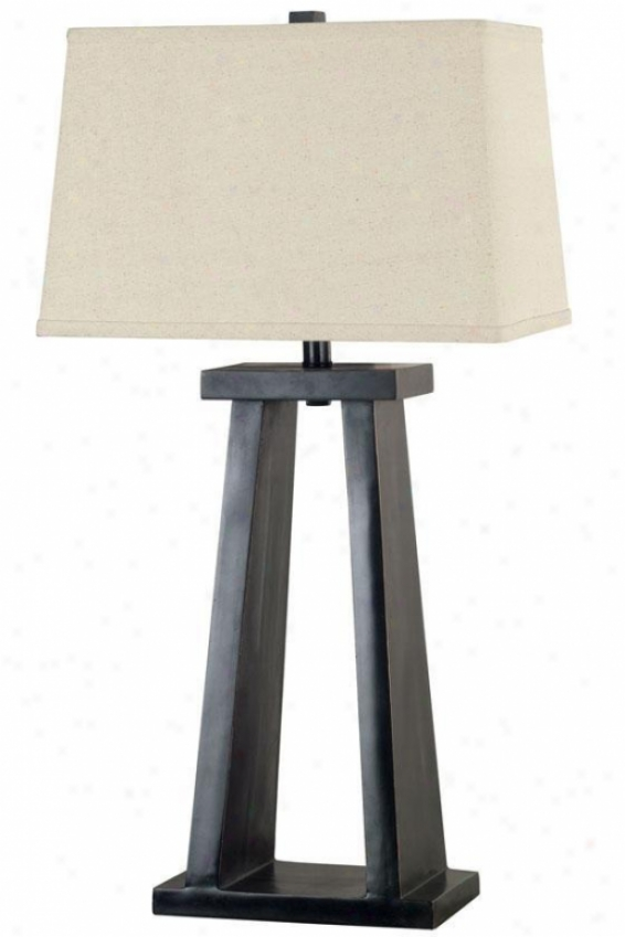 """taro Table Lamp - 30""""hx16""""w, Brown"""