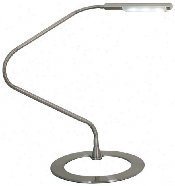 """tasso Led Flexible Desk Lamp - 9.75""""wx29""""h, Silver"""