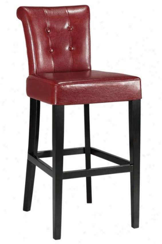 """taylor Bar Stool - 43""""hx19""""w, Red"""