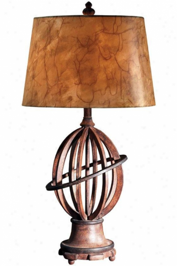 """teagen Table Lamp - 33.5""""hx16""""w, Brown"""