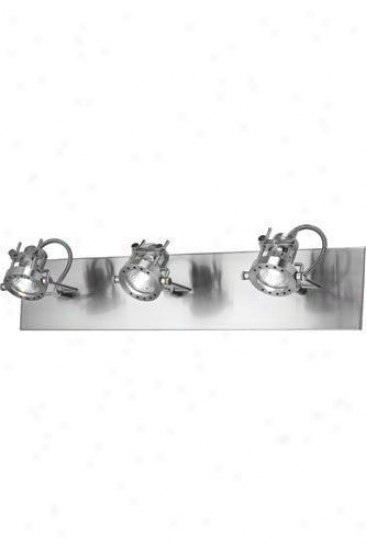 """technic Three-head Spotlight - 5""""hx24.5""""w, Silver"""
