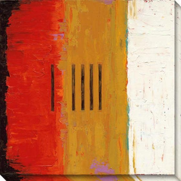 Temperance I Canvas Wall Art - I, Red
