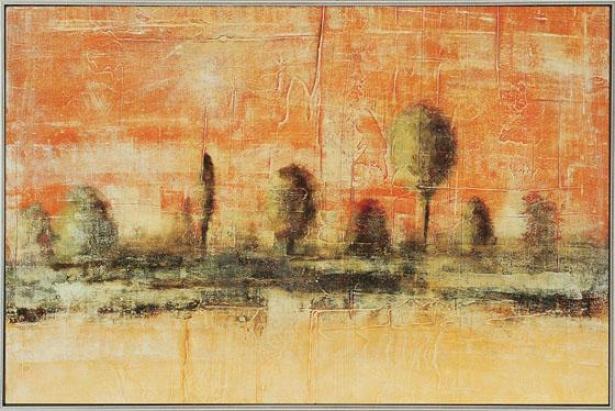 """""""terrestris Wall Art - 24""""""""hx37""""""""wx3""""""""d, Orange"""""""