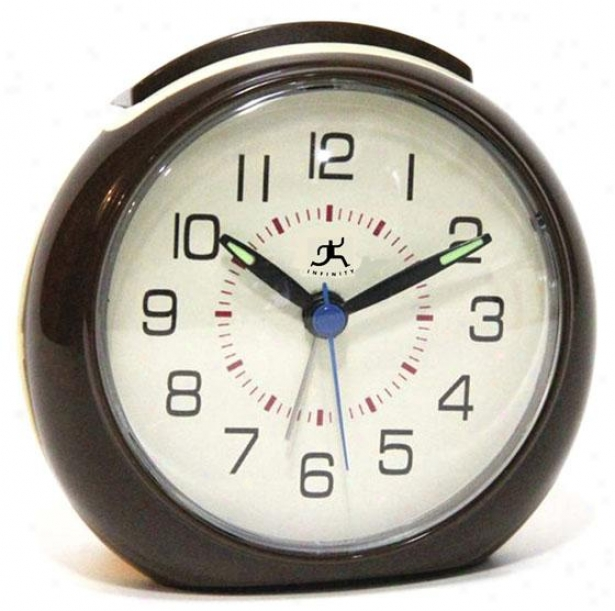 """the 60s Alarm Clock - 4""""hx4.25""""w, Brown/rtrostyle"""