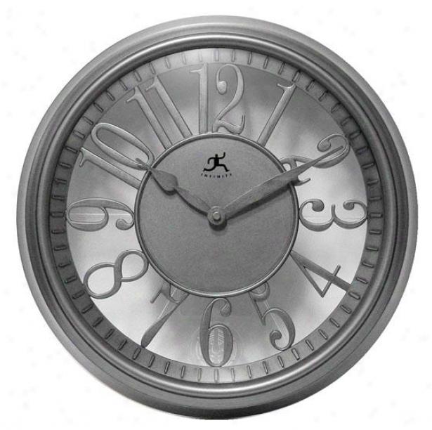 """the Engineer Wall Clock - 15""""hx15""""w, Gray /transprnt"""