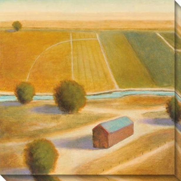 The Land Iii Canvas Wall Art - Iii, Gold